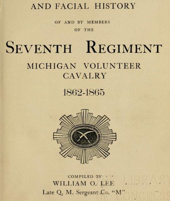 History of the 7th Michigan Cavalry