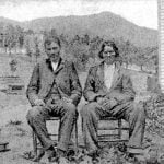 US Indian Agent, James Blythe son-in-law of Chief Smith Samspson George on left