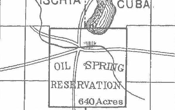 Oil Spring Reservation Map