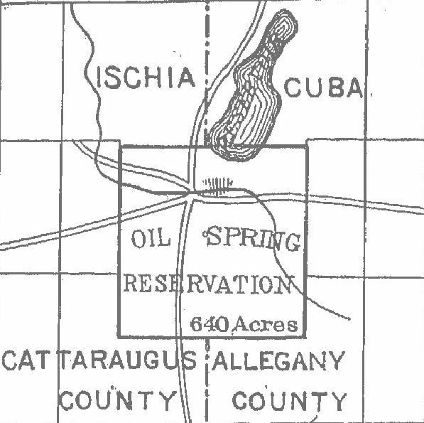 Oil Spring Reservation Map