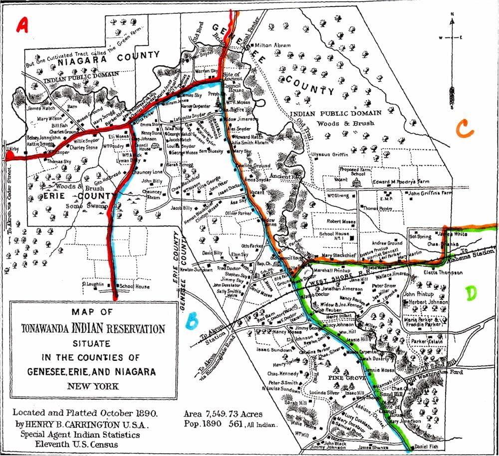 Tonawanda Reservation Maptonawanda reservation
