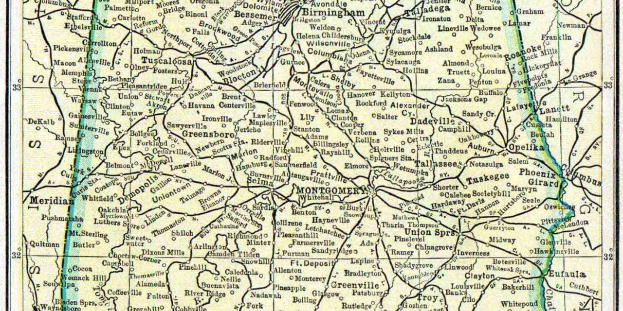 1910 Alabama Census Map