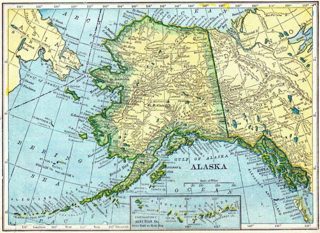 1910 Alaska Census Map