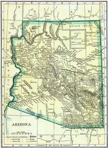 1910 Arizona Census Map