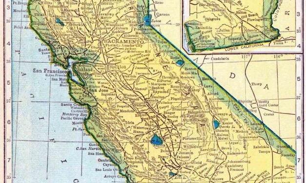 1910 California Census Map