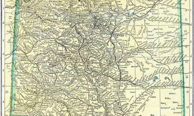 1910 Colorado Census Map