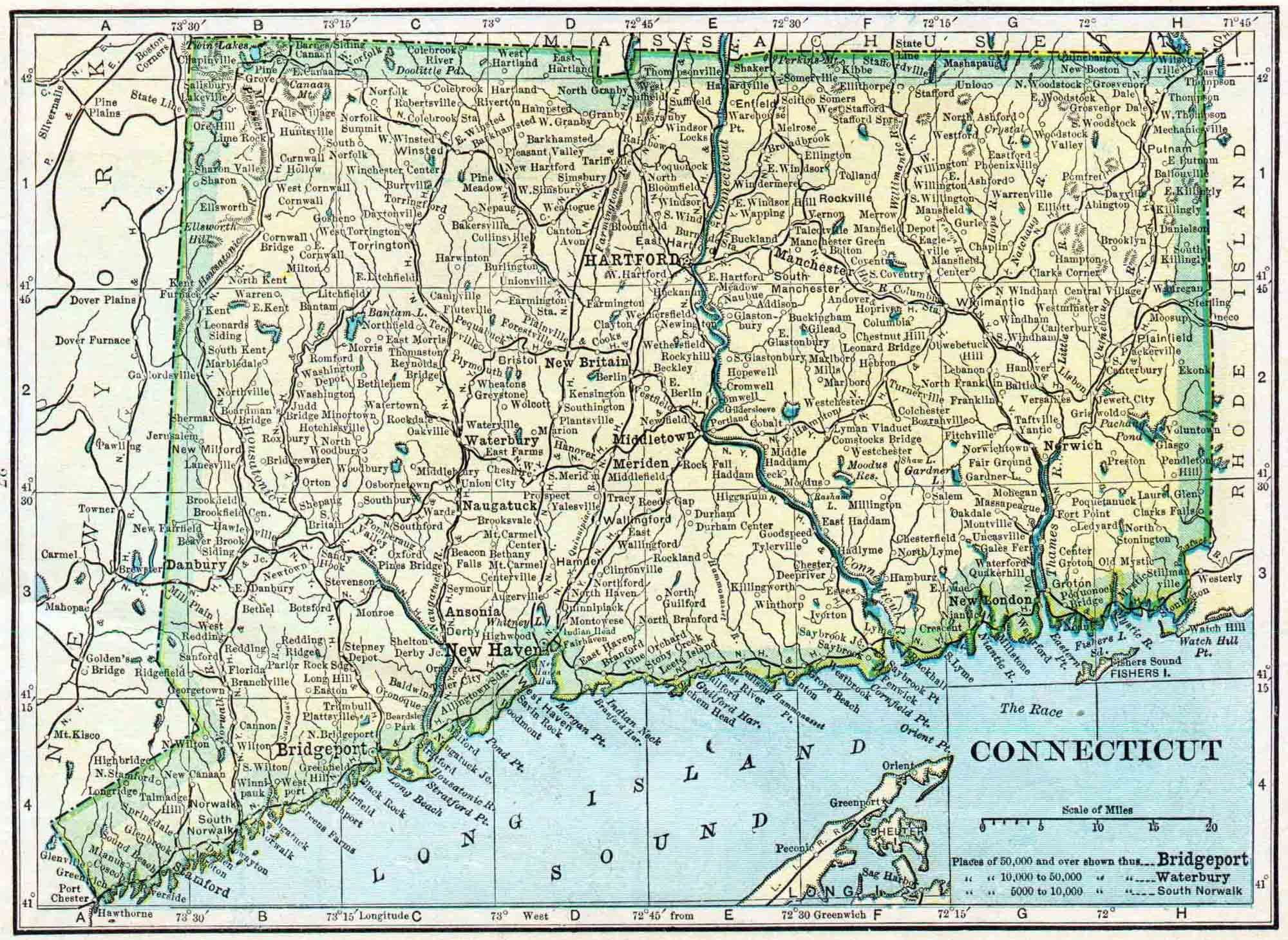 Connecticut Genealogy Access Genealogy - Map of ct towns