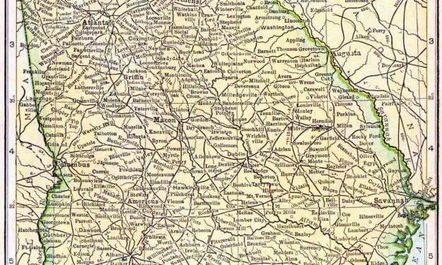 1910 Georgia Census Map