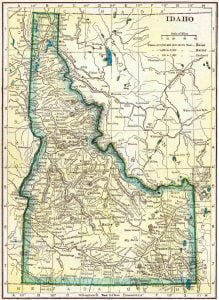 1910 Idaho Census Map