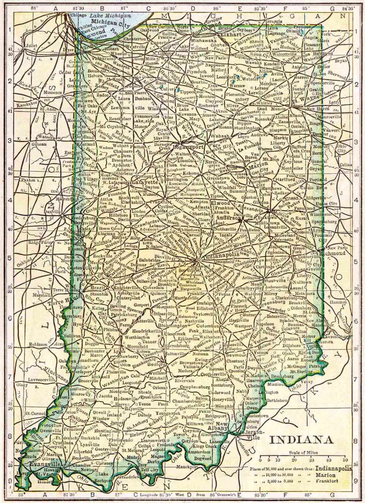 Indiana Census Map Access Genealogy - Census us 1910 map