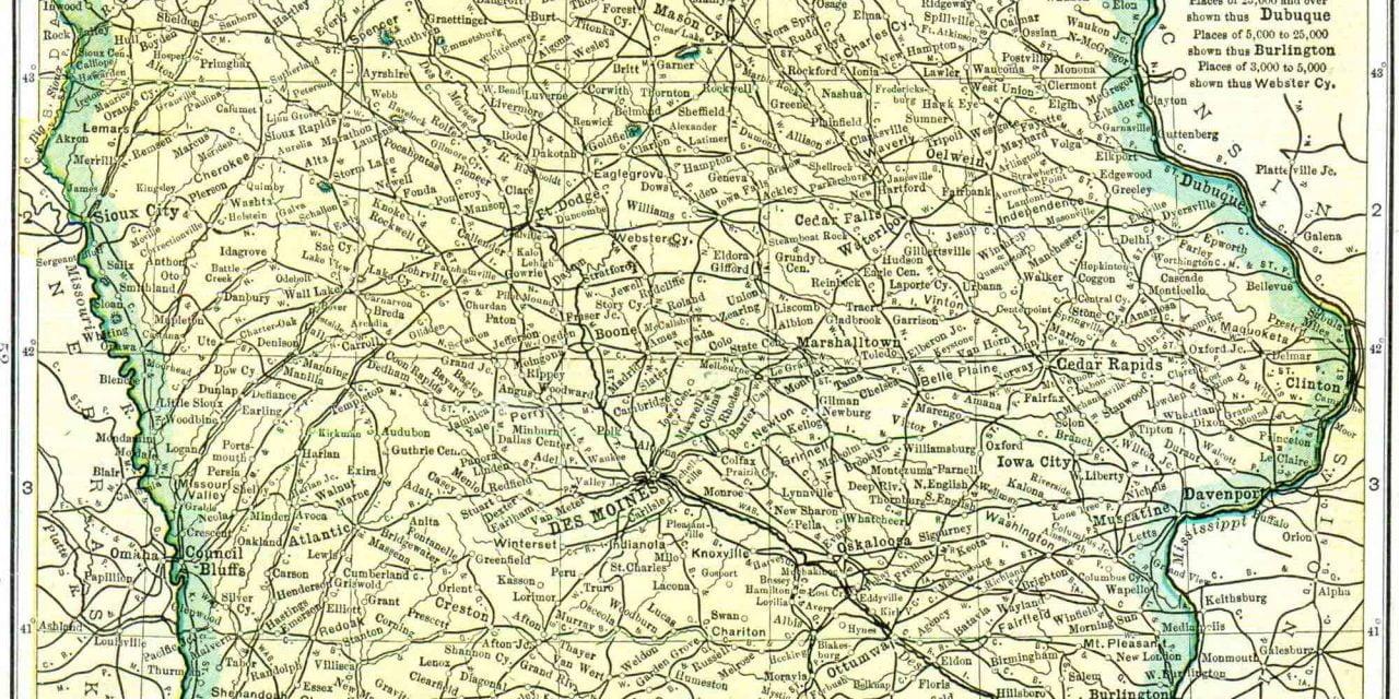 1910 Iowa Census Map