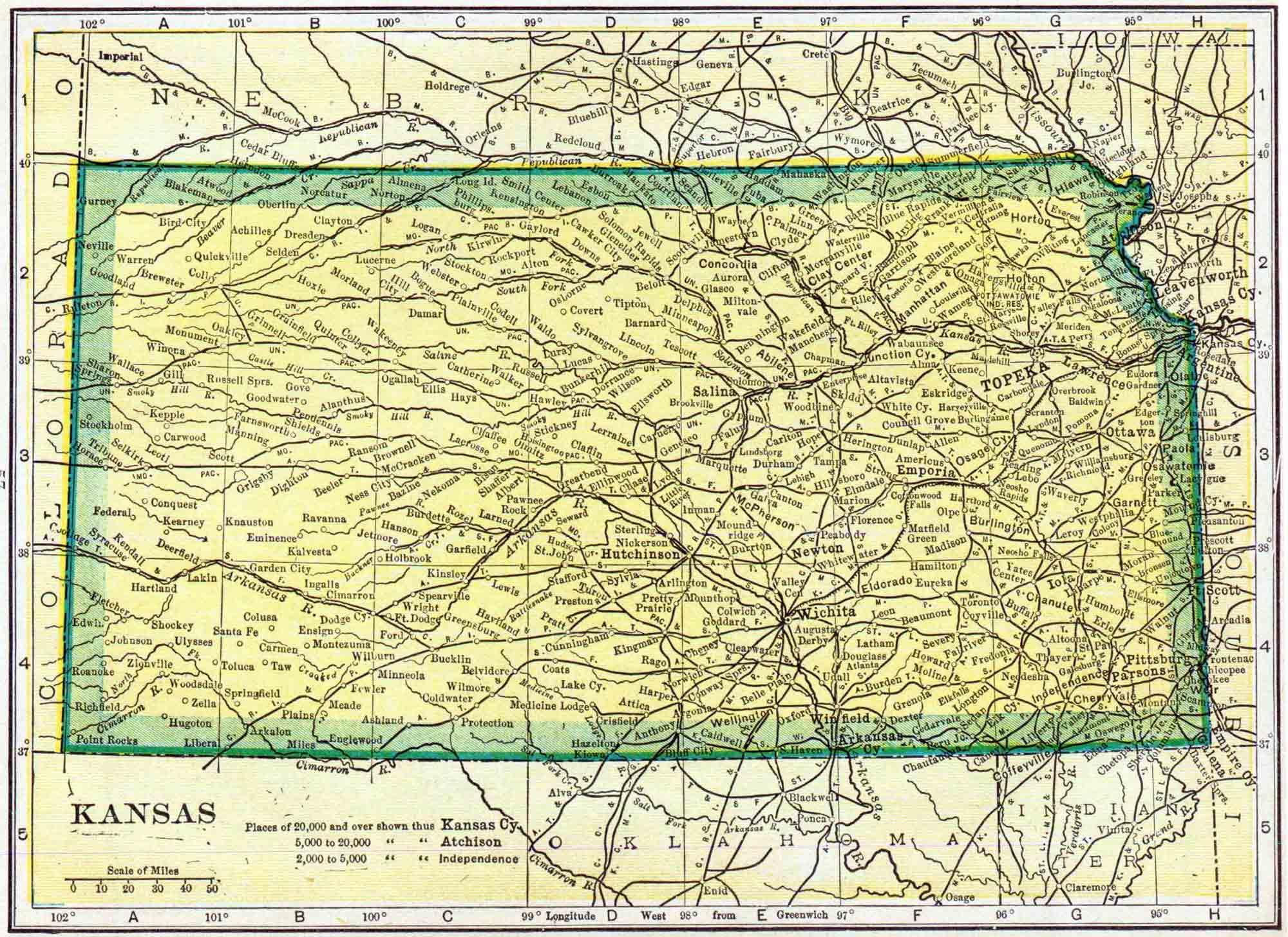1910 Kansas Census Map | Access Genealogy