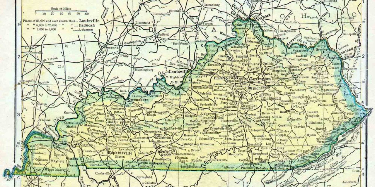 1910 Kentucky Census Map