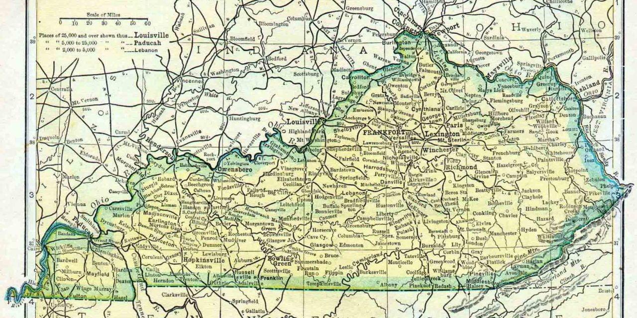 1910 Kentucky Census Map Access Genealogy