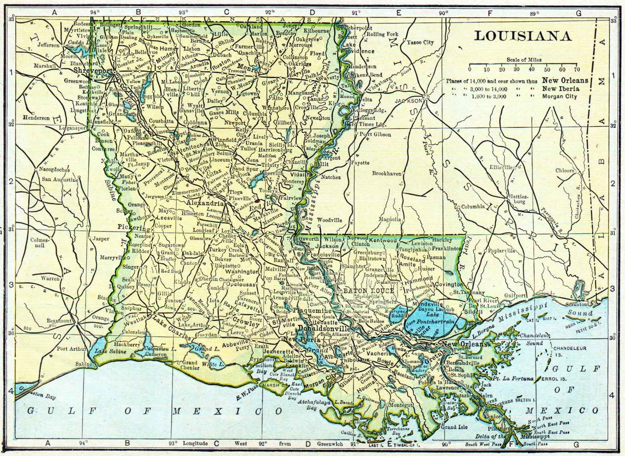 Louisiana Census Map Access Genealogy - Lousiana map