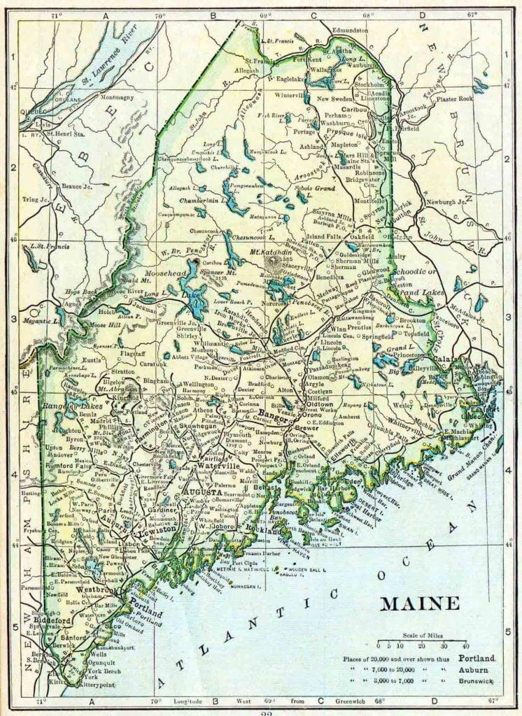 1910 Maine Census Map