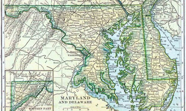 1910 Delaware and Maryland Census Map