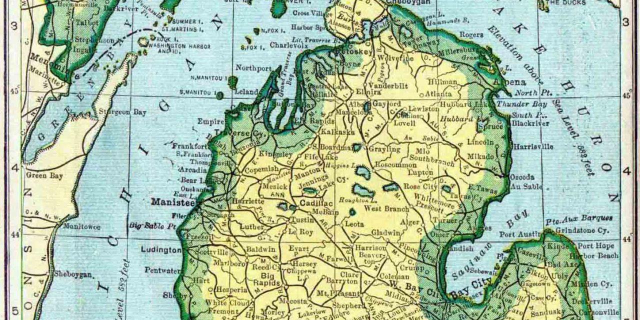 1910 Michigan Census Map