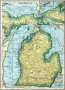 1910 Michigan Census Map