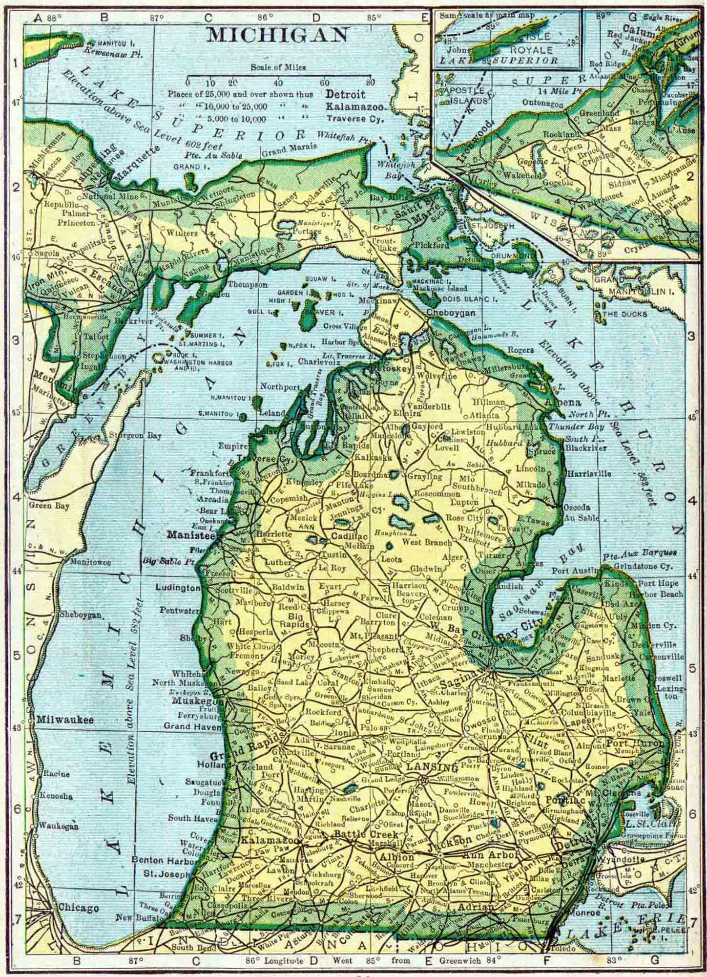 Michigan Genealogy Free Genealogy Access Genealogy - Michigan county map