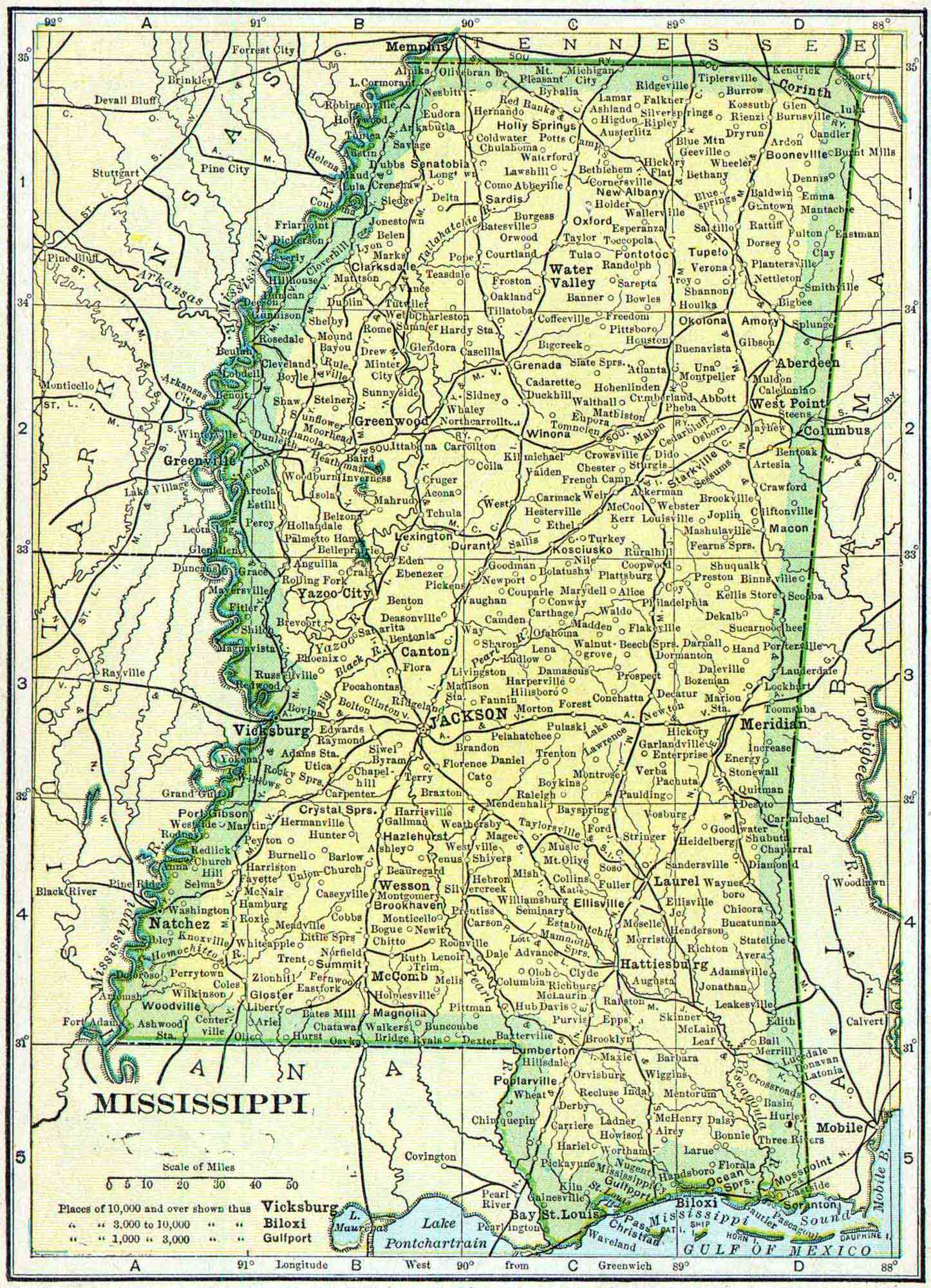 Mississippi Census Map Access Genealogy - Map mississippi