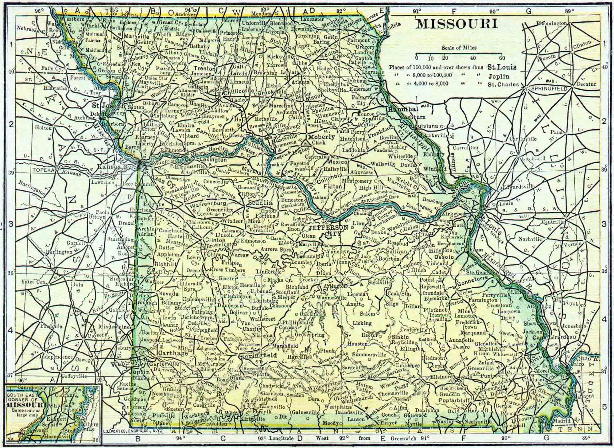 Missouri Genealogy Free Access 2nd Judicial Circuit Historical Society Maps