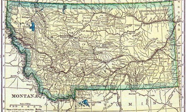 1910 Montana Census Map