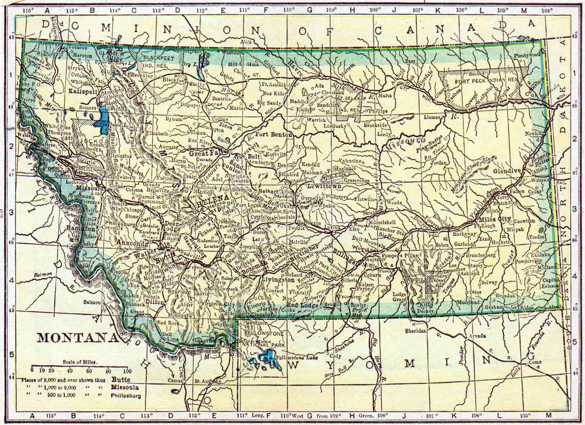 montana census map – access genealogy -  montana census map