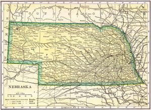 1910 Nebraska Census Map