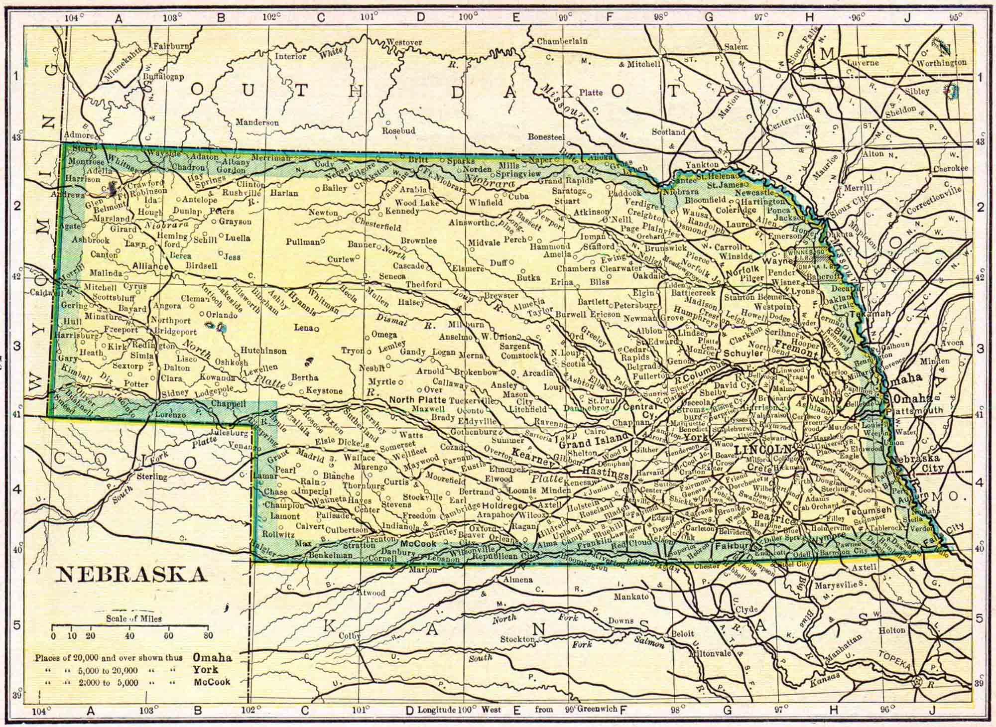 1910 Nebraska Census Map | Access Genealogy