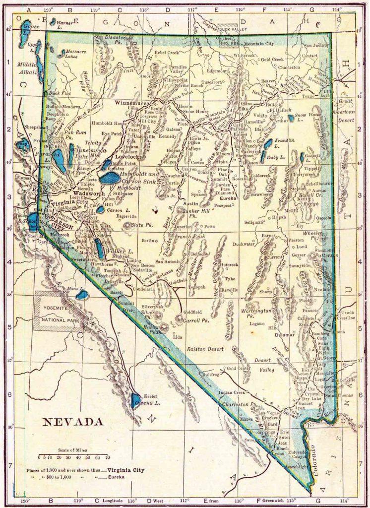 1910 Nevada Census Map