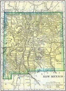 1910 New Mexico Census Map
