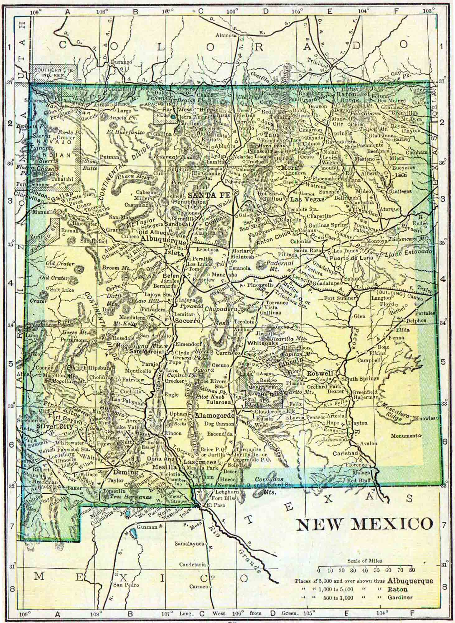 1910 New Mexico Census Map Access Genealogy