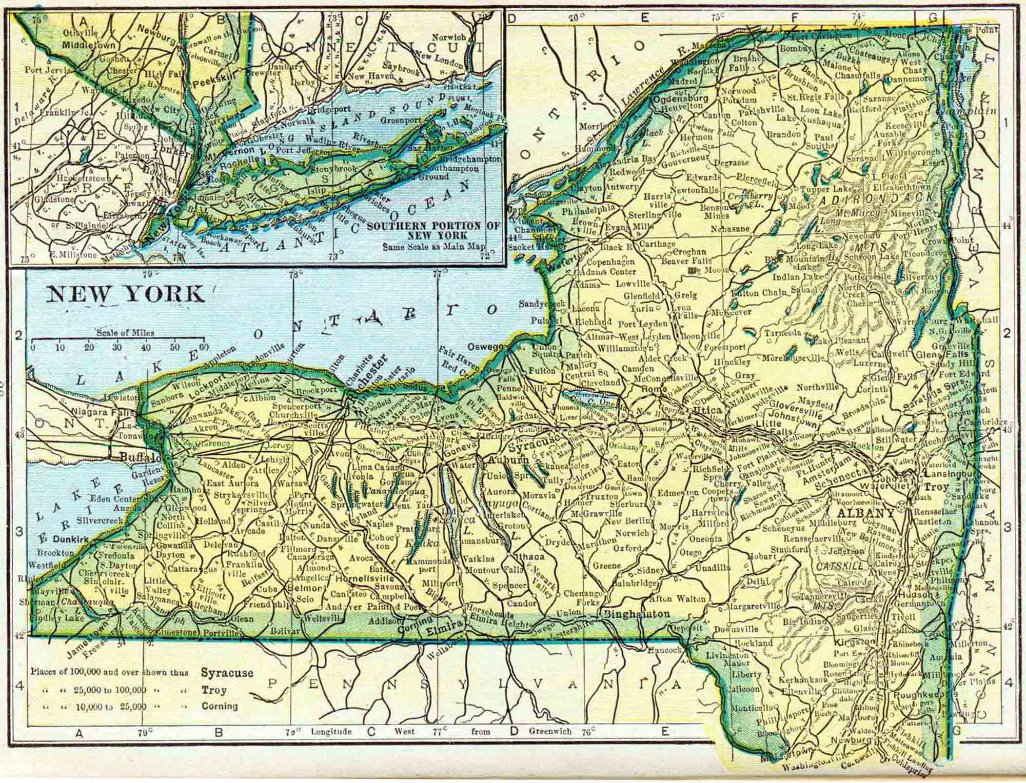 Seneca County New York Census Records Access Genealogy - New york state map with counties
