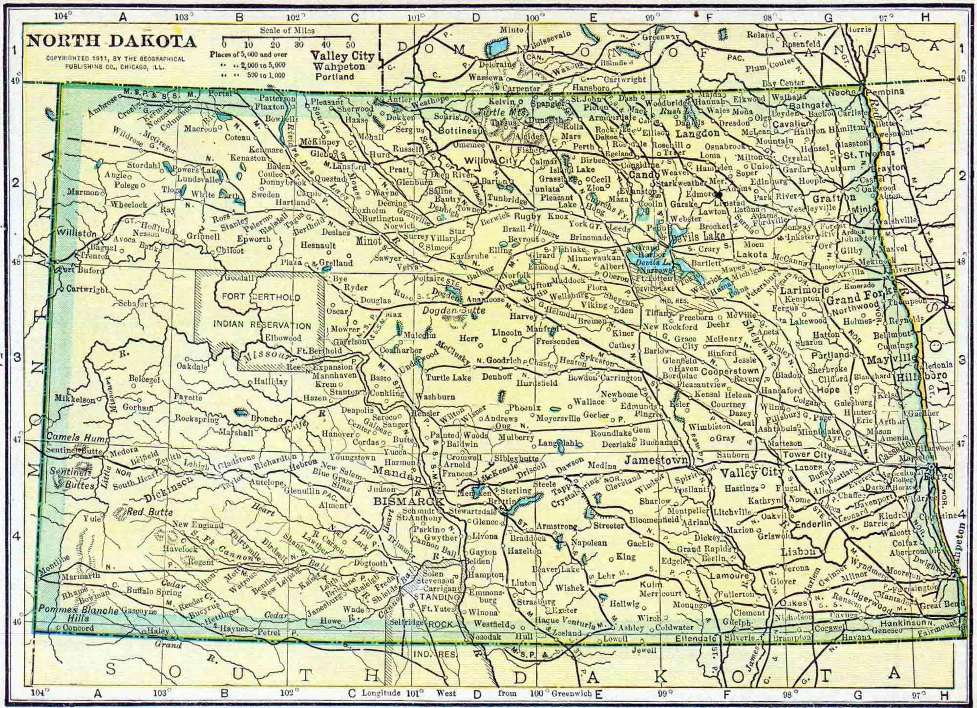 1910 North Dakota Census Map | Access Genealogy