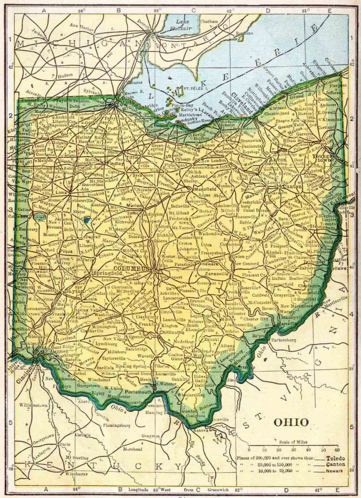 1910 Ohio Census Map
