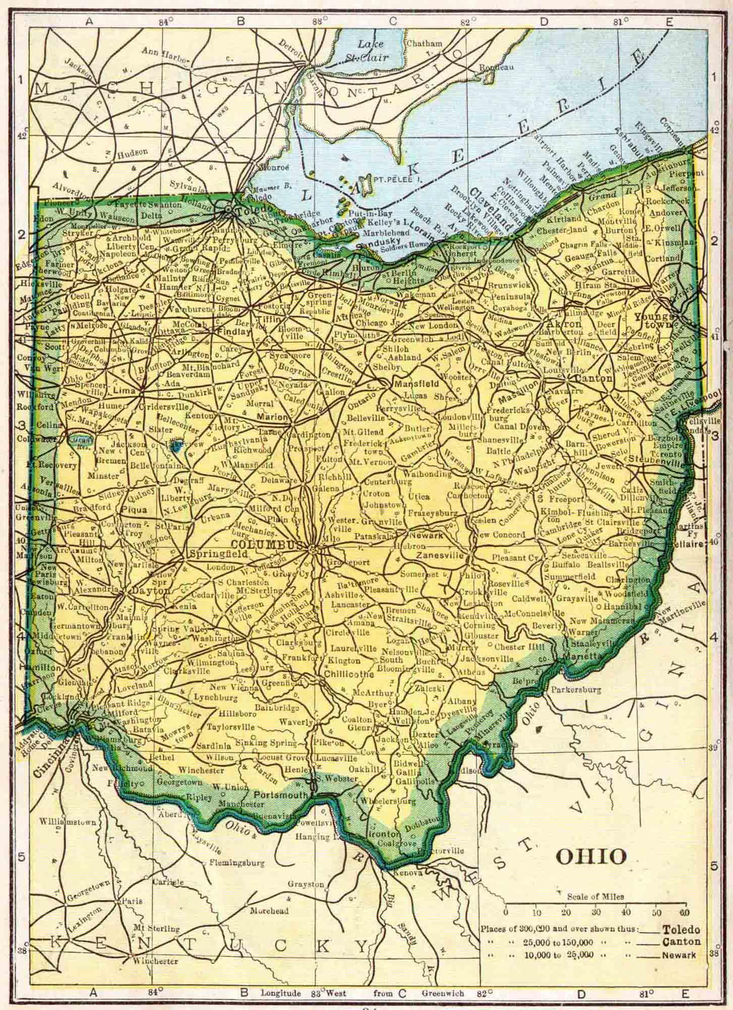 1910 Ohio Census Map Access Genealogy