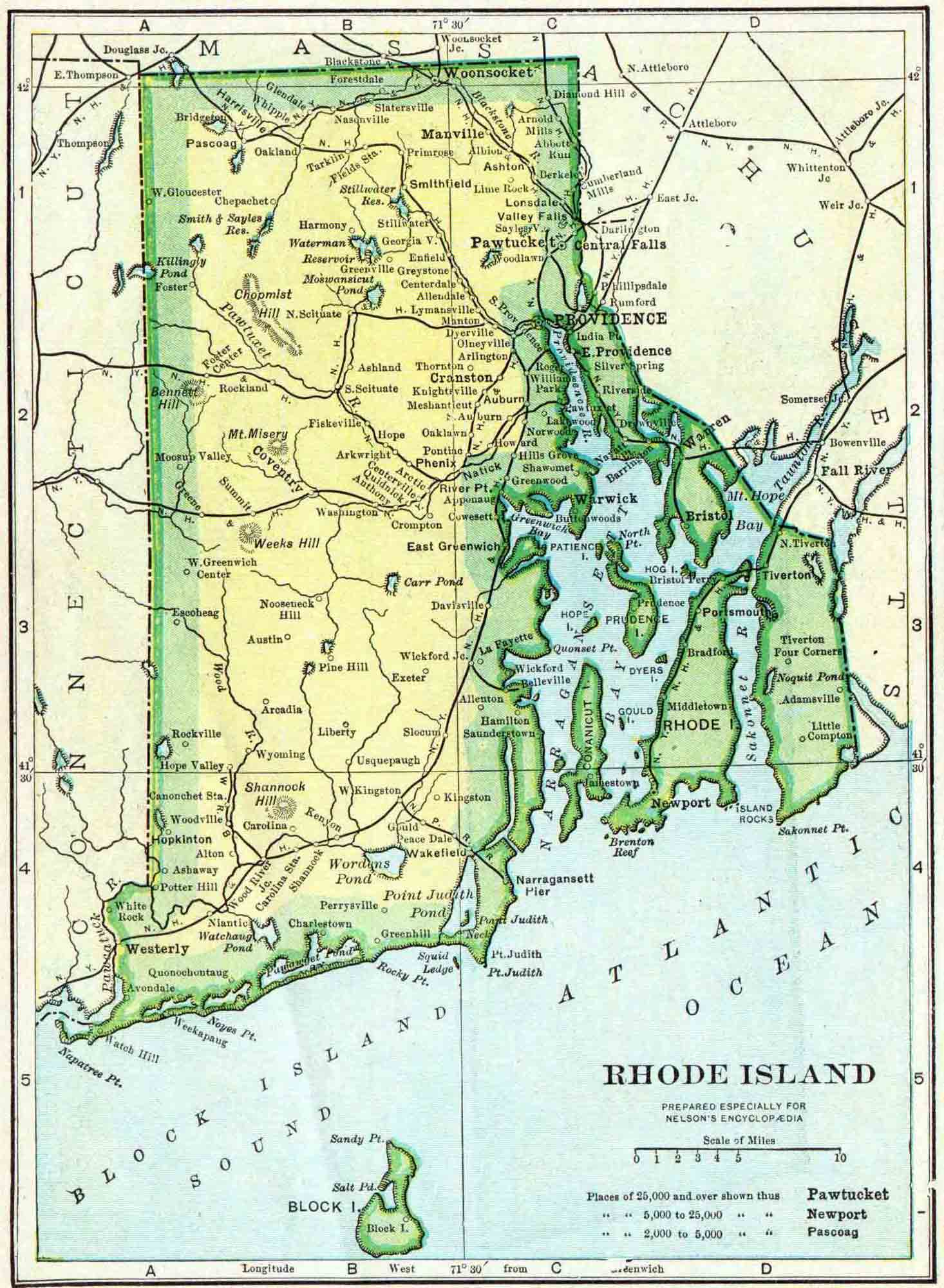 Rhode Island Genealogy Free Genealogy Access Genealogy - Usa map rhode island