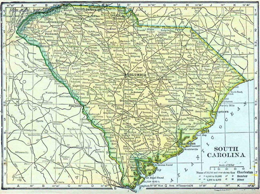 1910 South Carolina Census Map