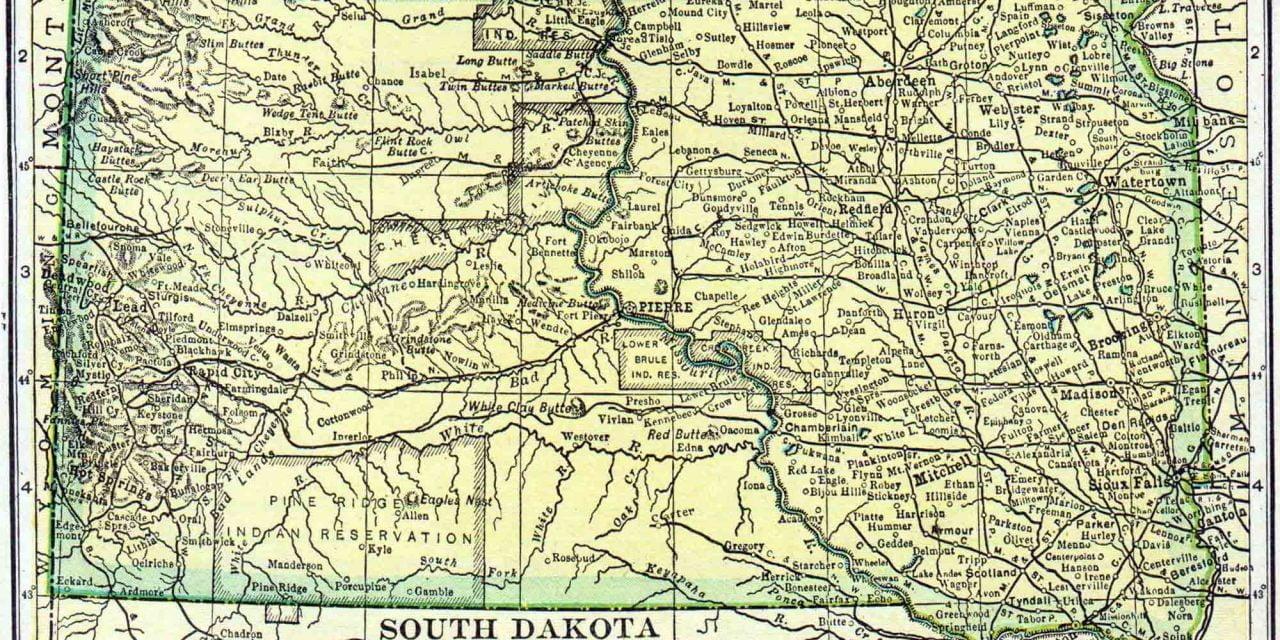 1910 South Dakota Census Map