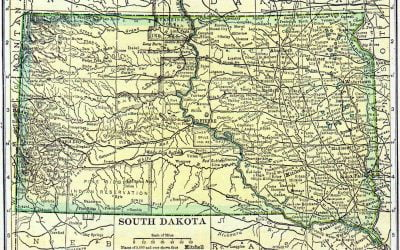 1910 South Dakota Census Map