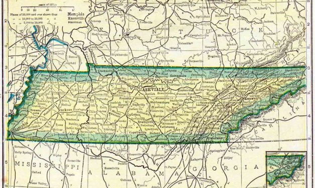 1910 Tennessee Census Map