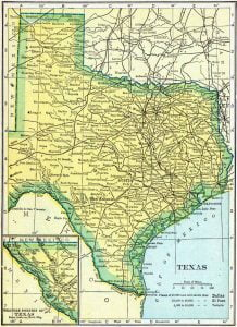 1910 Texas Census Map