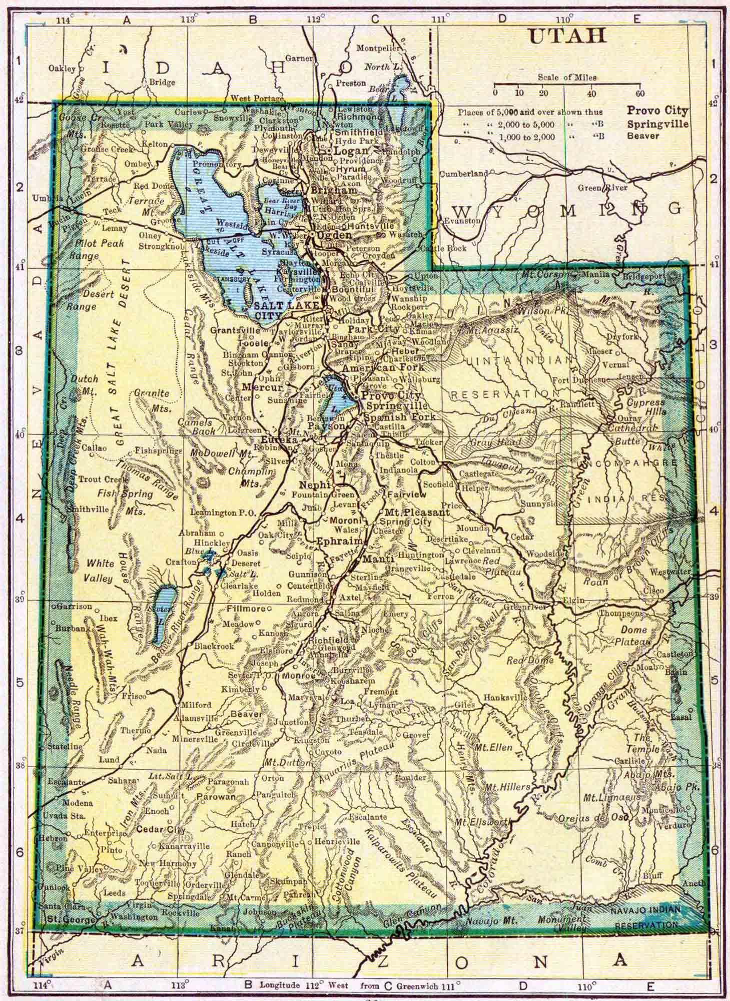 Utah Census Map Access Genealogy - Census us 1910 map