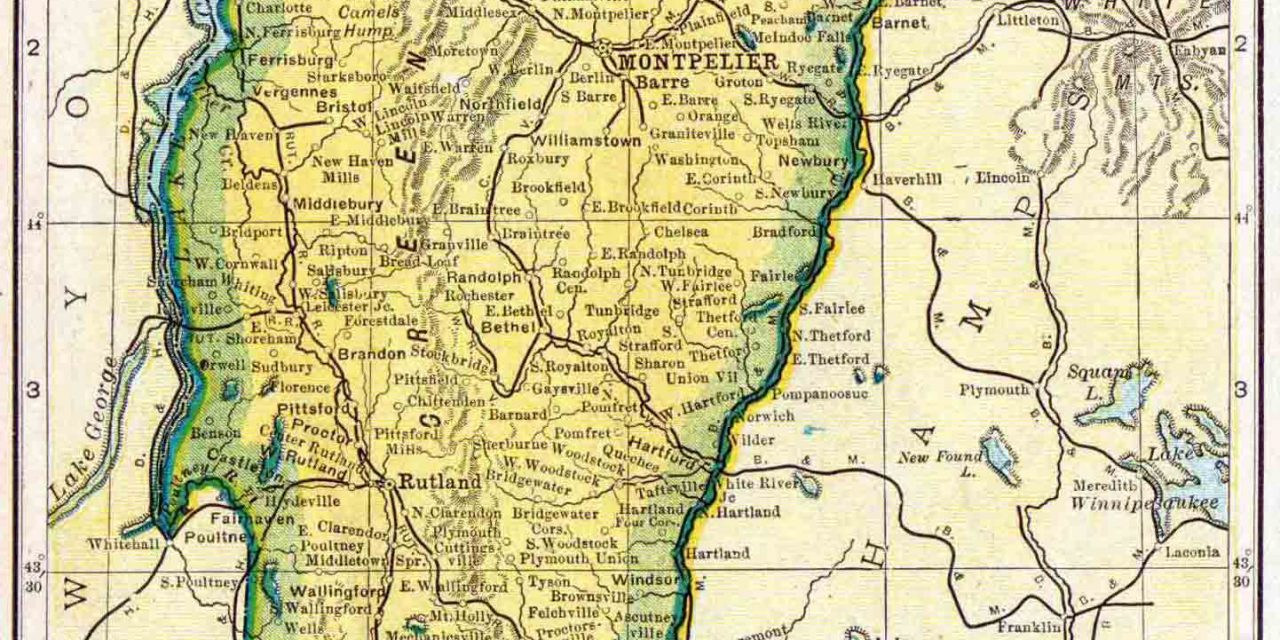 1910 Vermont Census Map