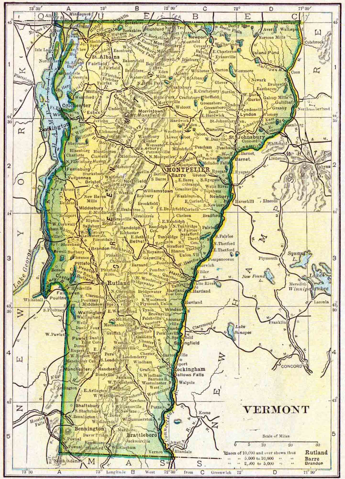 Vermont Genealogy Access Genealogy - Vermont political map