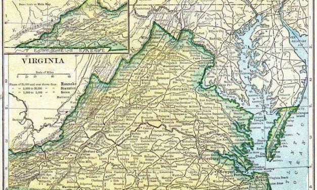 1910 Virginia Census Map