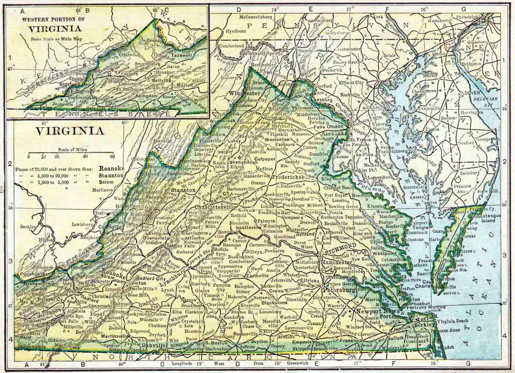 Virginia Census Map Access Genealogy - Map virgina