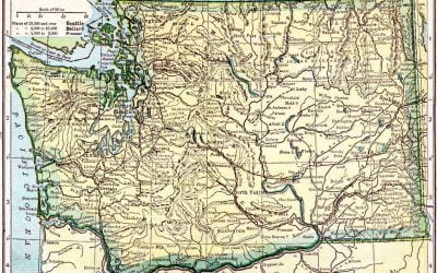 1910 Washington Census Map