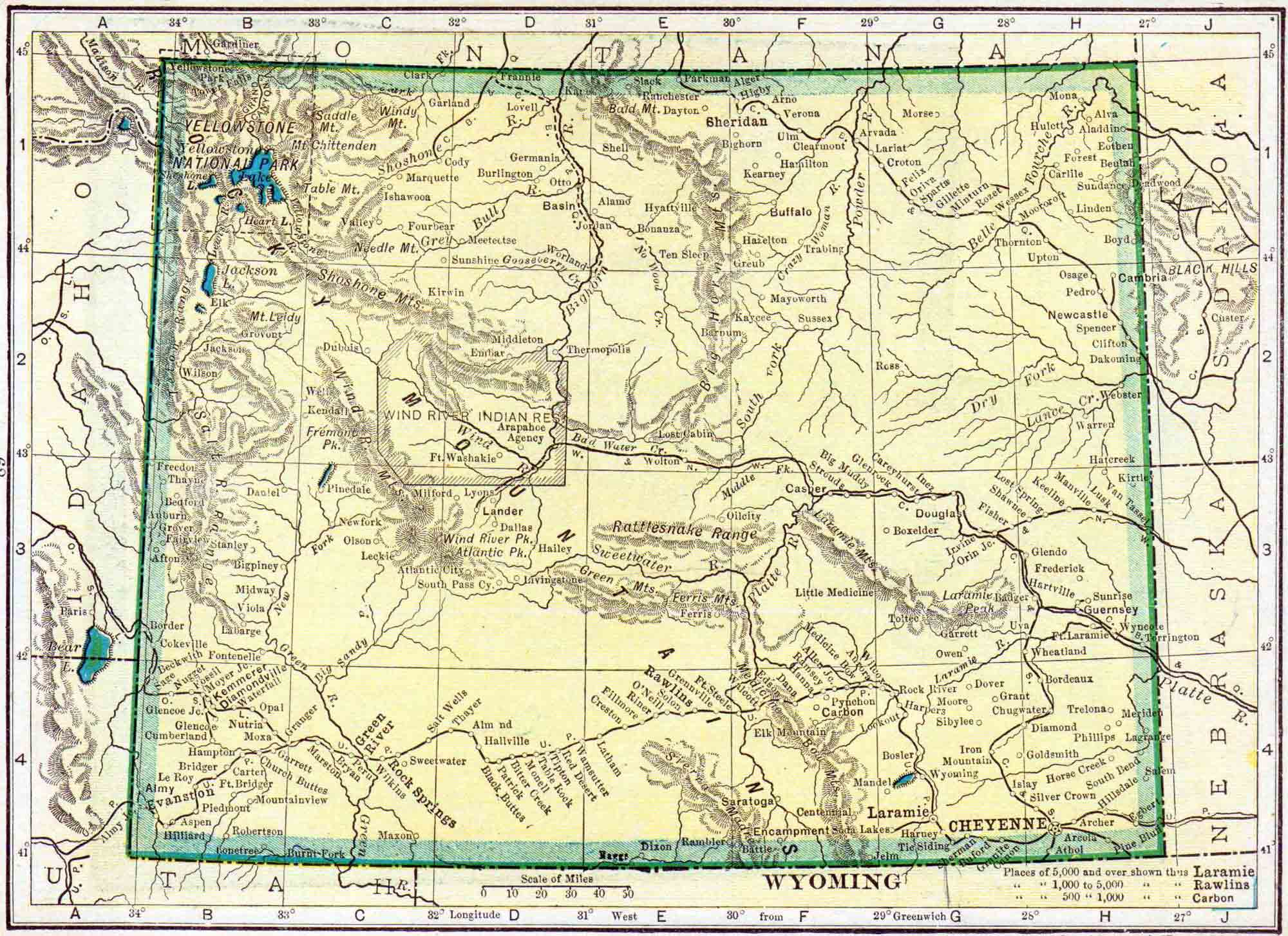 Wyoming Census Map Access Genealogy - Census us 1910 map